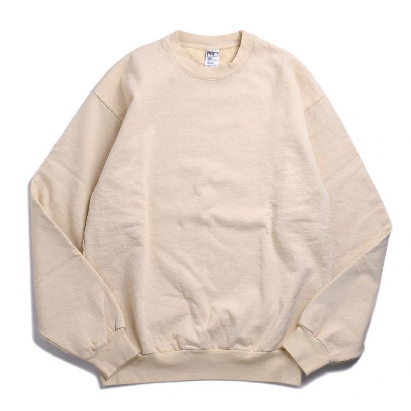 画像1: Los Angeles Apparel 14oz Heavy Fleece Garment Dye Crewneck Beige / ロサンゼルスアパレル 14オンス ヘビーフリース ガーメントダイ クルーネック スウェット ベージュ (1)