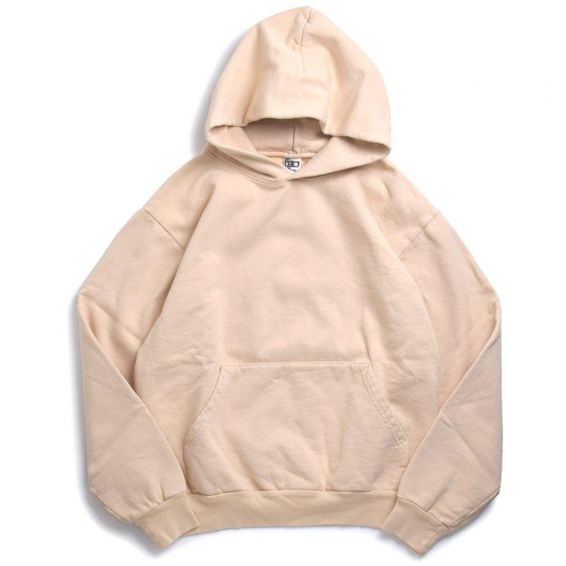 画像1: Los Angeles Apparel 14oz Garment Dye Hoodie Beige / ロサンゼルスアパレル 14オンス ガーメントダイ スウェットフーディ ベージュ (1)