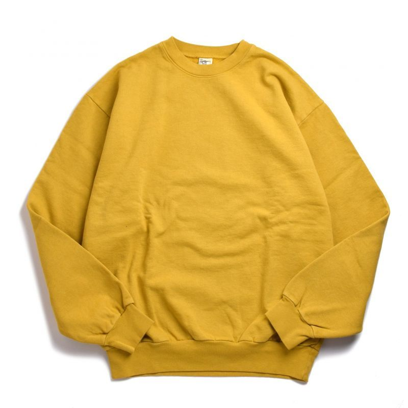 画像1: Los Angeles Apparel 14oz Heavy Fleece Garment Dye Crewneck Dijon / ロサンゼルスアパレル 14オンス ヘビーフリース ガーメントダイ クルーネック スウェット マスタード (1)