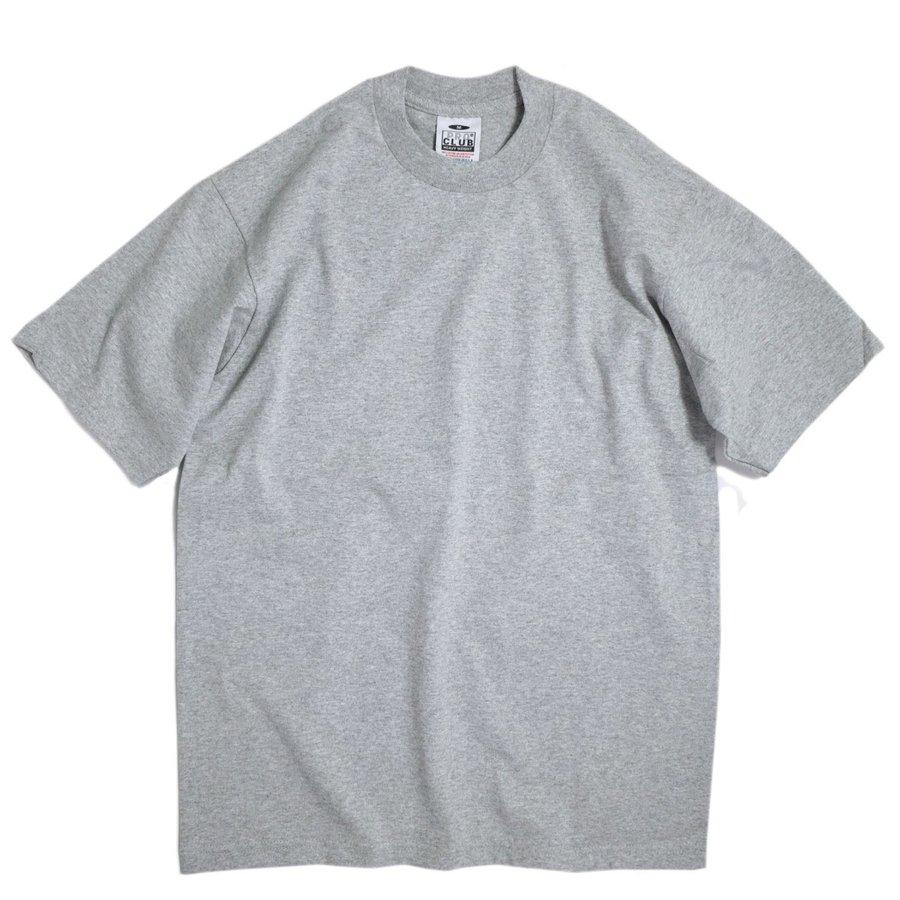 画像1: PRO CLUB Heavyweight Cotton Short Sleeve Crew Neck T-shirt Gray / プロクラブ ヘビーウェイト コットン ショート スリーブ  クルーネック Tシャツ グレー (1)