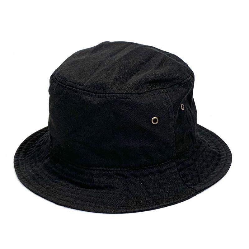 画像1: KBETHOS  Solid Bucket Hat Black / ケービーエトス ソリッド バケット ハット ブラック (1)