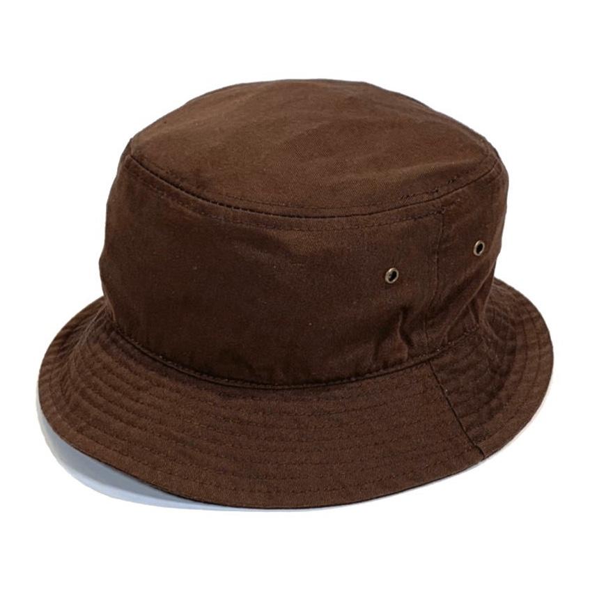 画像1: KBETHOS  Solid Bucket Hat Brown / ケービーエトス ソリッド バケット ハット ブラウン (1)