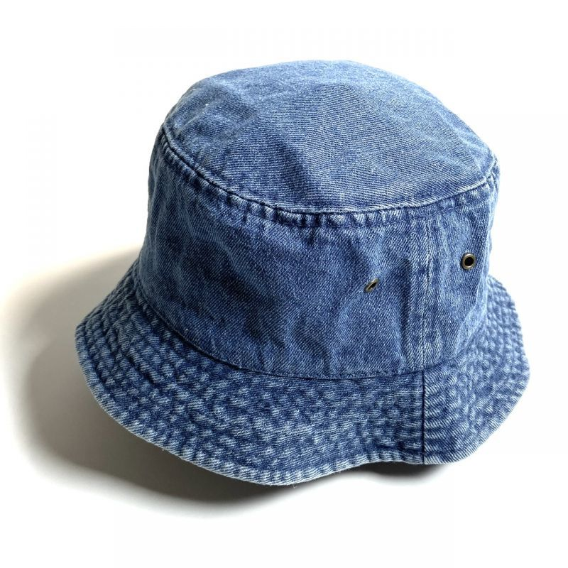 画像1: KBETHOS  Solid Bucket Hat Light Denim / ケービーエトス ソリッド バケット ハット ライトデニム (1)