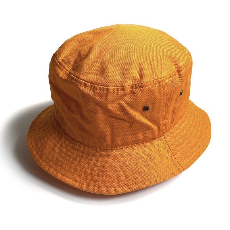 画像1: KBETHOS  Solid Bucket Hat Orange / ケービーエトス ソリッド バケット ハット オレンジ (1)