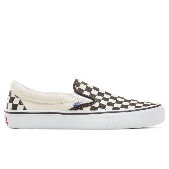 画像1: Vans Slip On Pro Checkerboard Off White x Black / ヴァンズ スリッポン プロ チェッカー オフホワイト x ブラック (1)