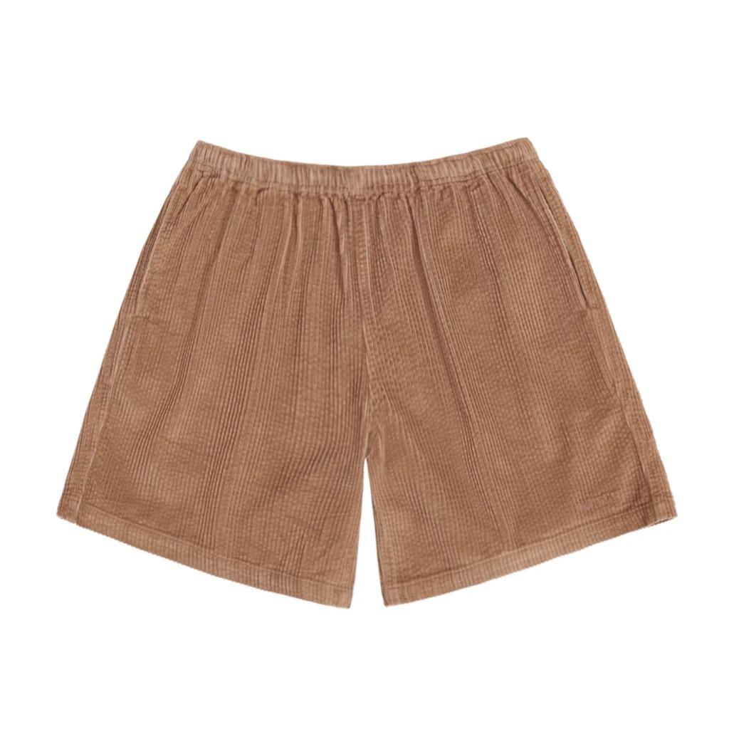 画像1: ONLY NY Wide Wale Corduroy Chill Shorts Wheat / オンリーニューヨーク ワイドウェール コーデュロイ ショーツ ブラウン (1)