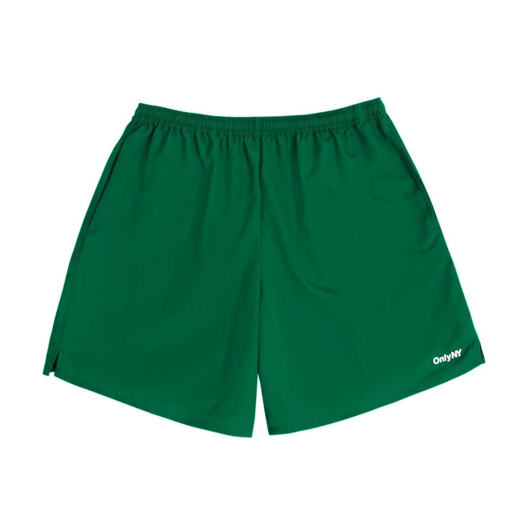画像1: ONLY NY Track Shorts Green / オンリーニューヨーク ナイロン トラックショーツ グリーン (1)