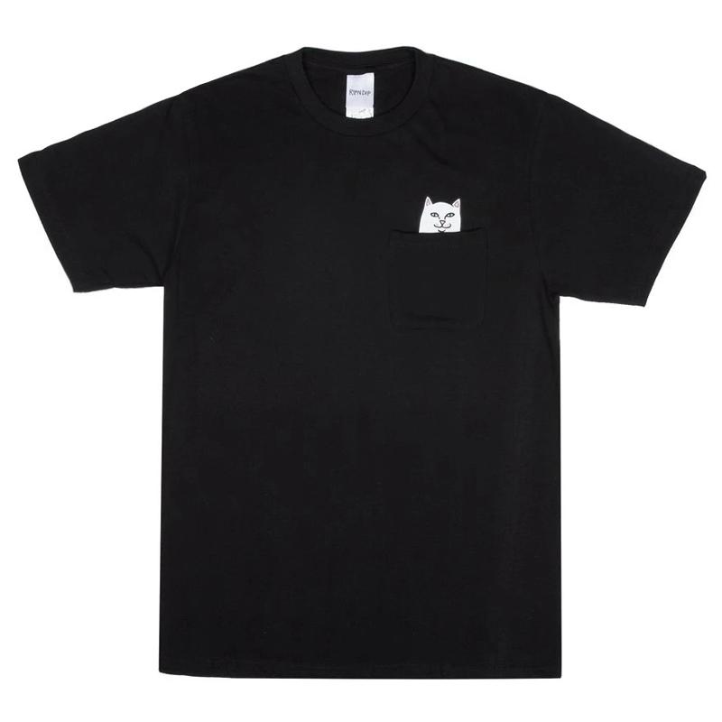 画像1: RIPNDIP Lord Nermal Pocket Short Sleeve T-Shirts Black / リップンディップ ショートスリーブ Tシャツ ブラック (1)