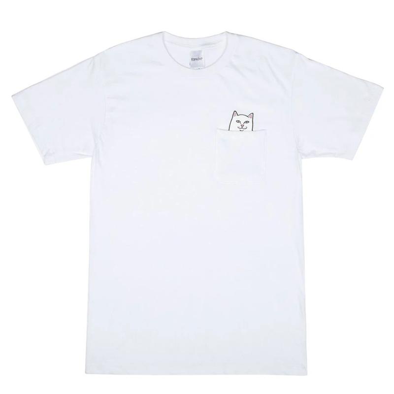 画像1: RIPNDIP Lord Nermal Pocket Short Sleeve T-Shirts White / リップンディップ ショートスリーブ Tシャツ ホワイト (1)