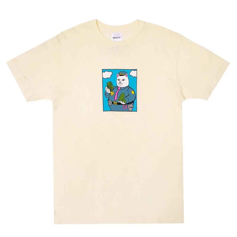 画像1: RIPNDIP Confiscated Short Sleeve T-Shirts Natural / リップンディップ ショートスリーブ Tシャツ ナチュラル (1)