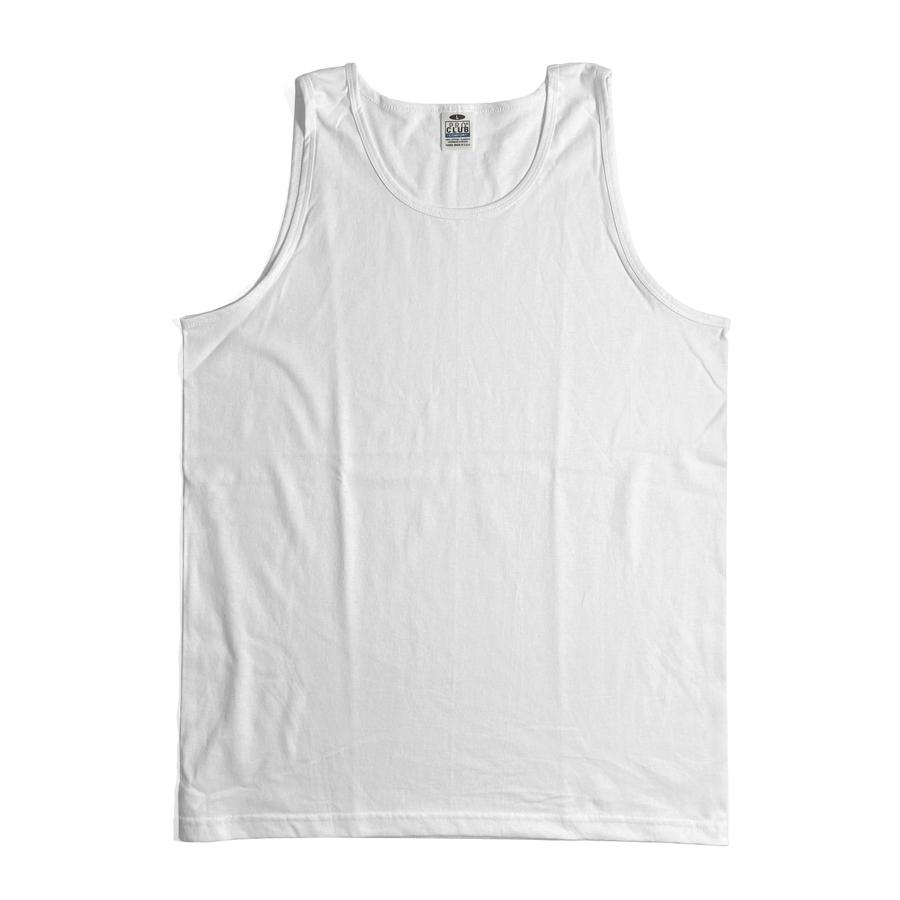 画像1: PRO CLUB Heavyweight Cotton A-Shirts White / プロクラブ ヘビーウェイト コットン タンクトップ (1)