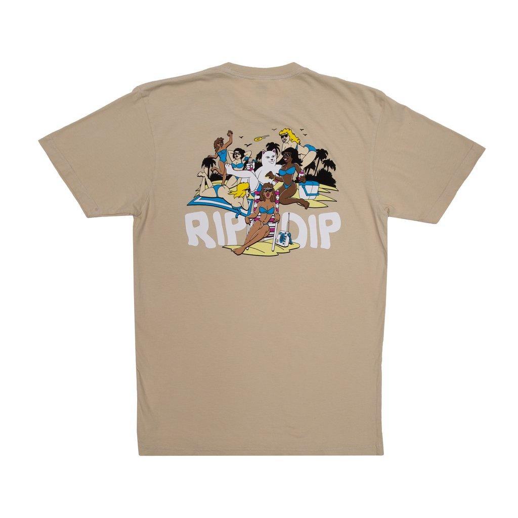 画像1: RIPNDIP Spring Break T-Shirts Tan / リップンディップ ショートスリーブ Tシャツ タン (1)
