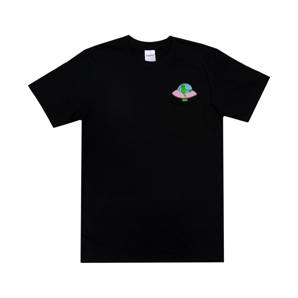 画像1: RIPNDIP Abduction Pocket Short Sleeve T-Shirts Black / リップンディップ ショートスリーブ Tシャツ ブラック (1)