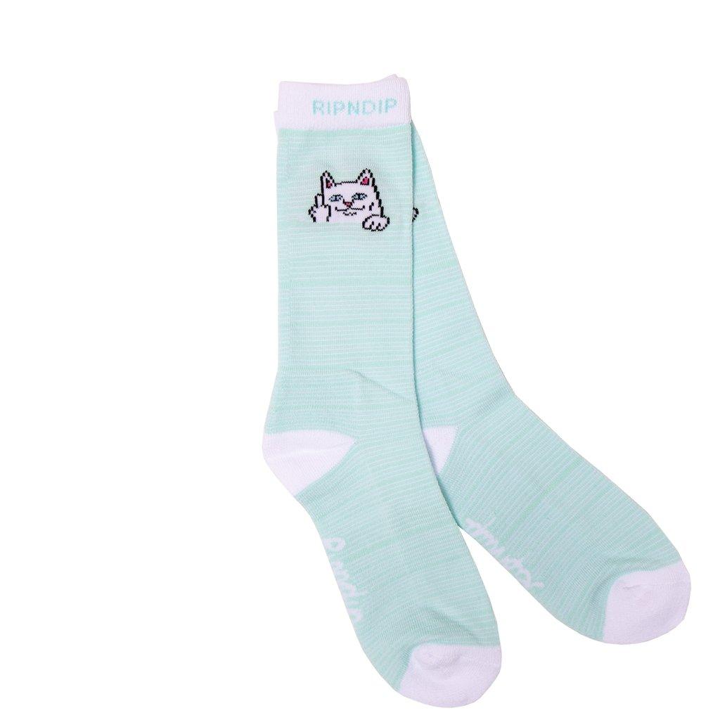 画像1: RIPNDIP Peek A Nermal Socks Mint / リップンディップ ソックス (1)