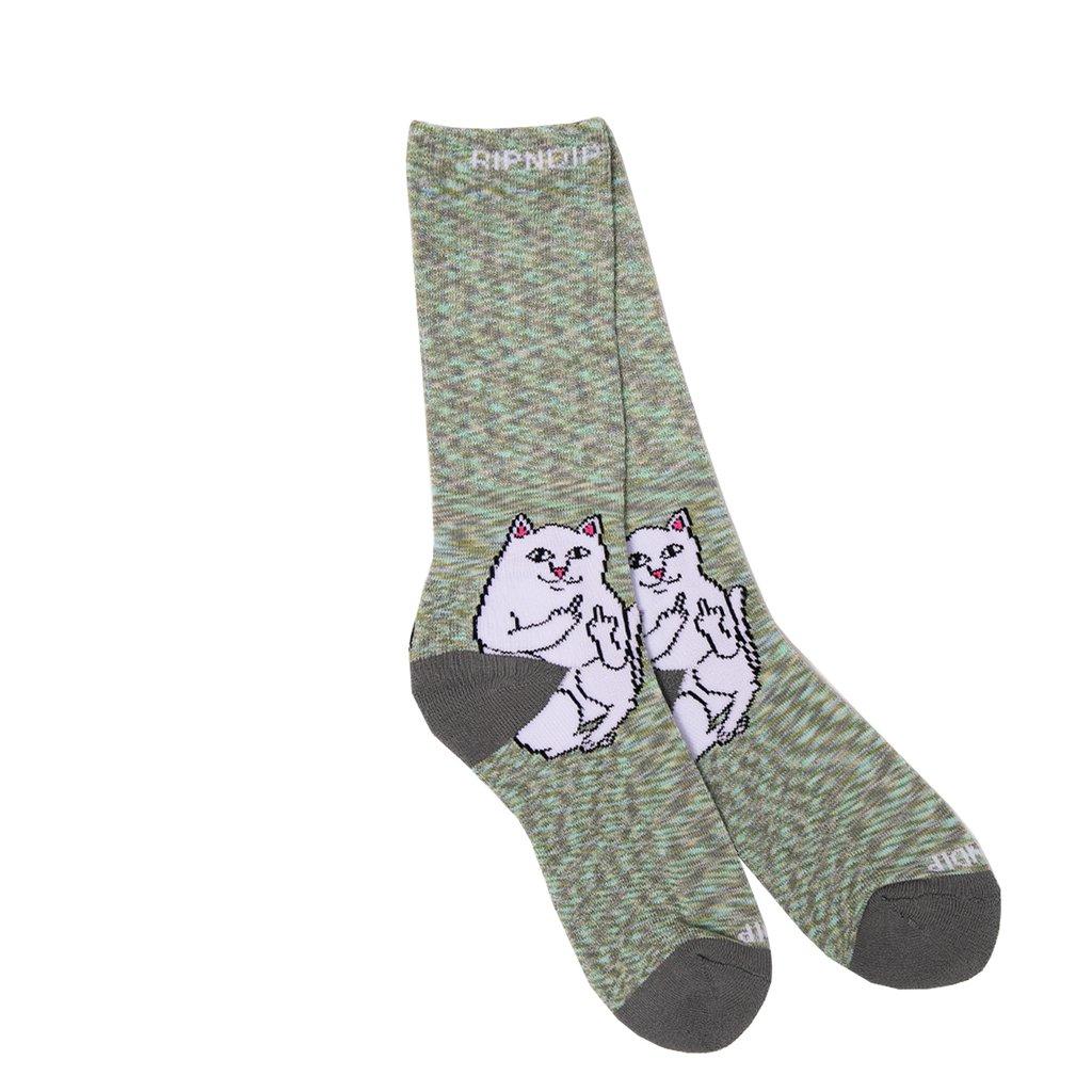 画像1: RIPNDIP Lord Nermal Socks Gray Speckle / リップンディップ ソックス (1)