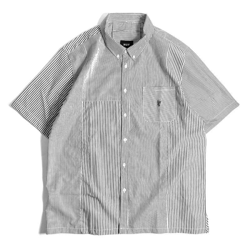 画像1: HUF Disorder Short Sleeve Shirts Black / ハフ ショートスリーブ シャツ (1)