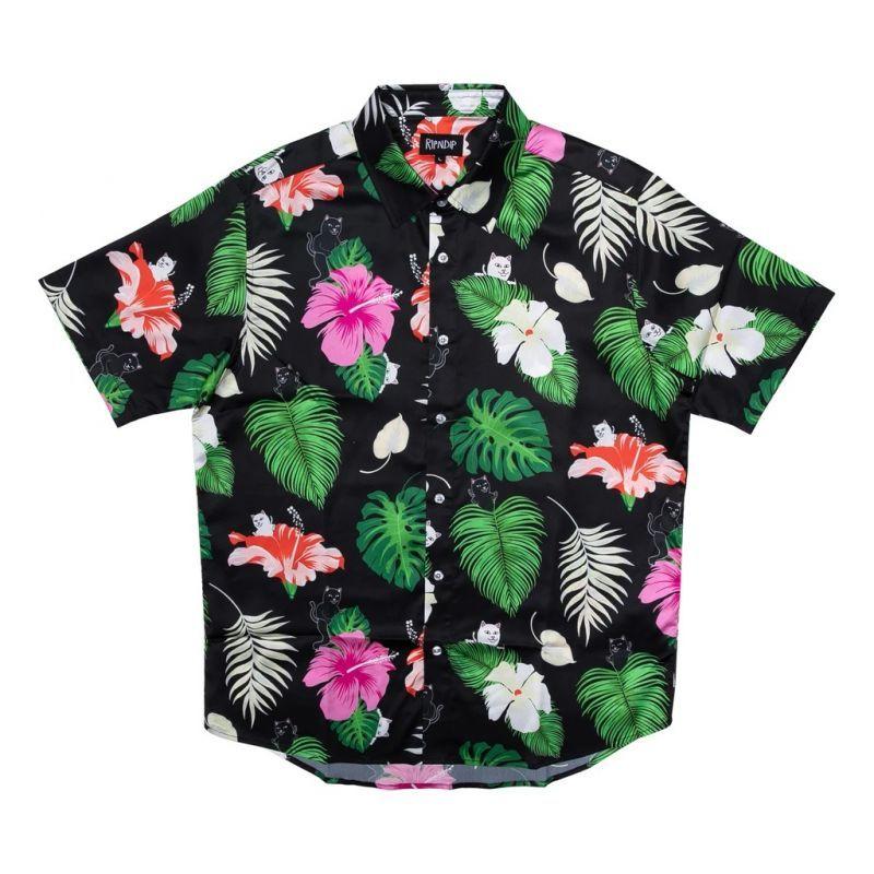 画像1: RIPNDIP Maui Nerm Short Sleeve Shirts Black / リップンディップ ショートスリーブ シャツ ブラック (1)