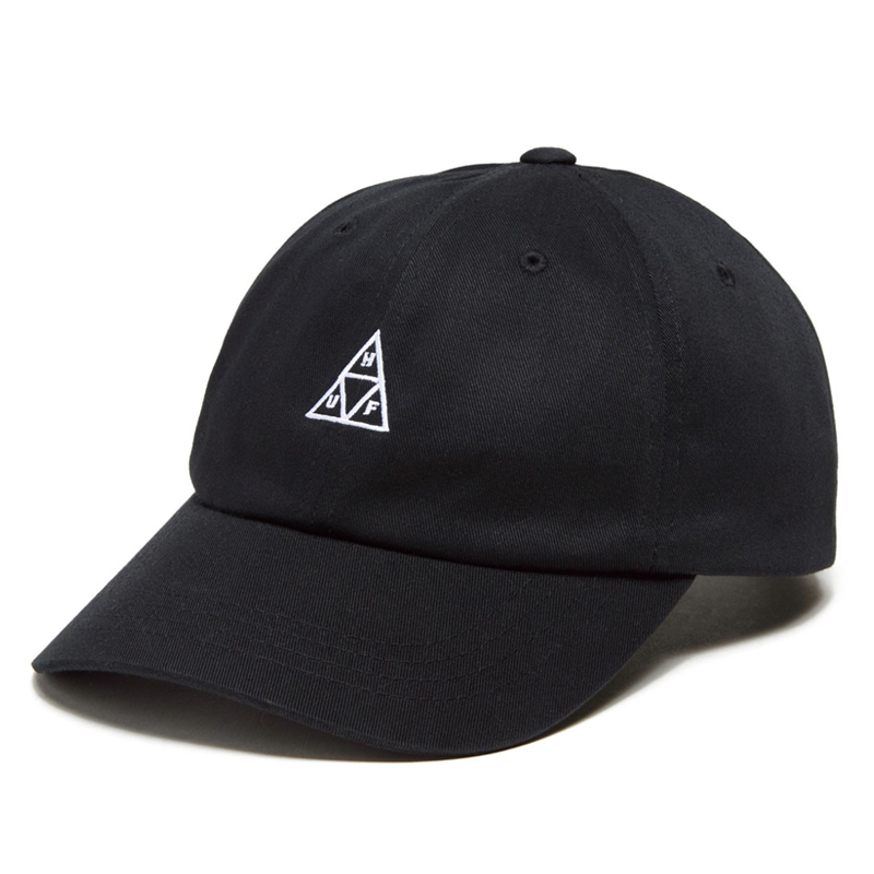 画像1: HUF Essentials Triple Triangle Logo Curved Visor Cap Black / ハフ トリプルトライアングル ロゴ キャップ ブラック (1)