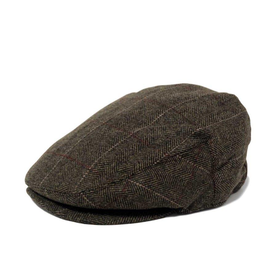 画像1: KBETHOS Wool Hunting Cap Brown / ケービーエトス ウール ハンチング ブラウン (1)