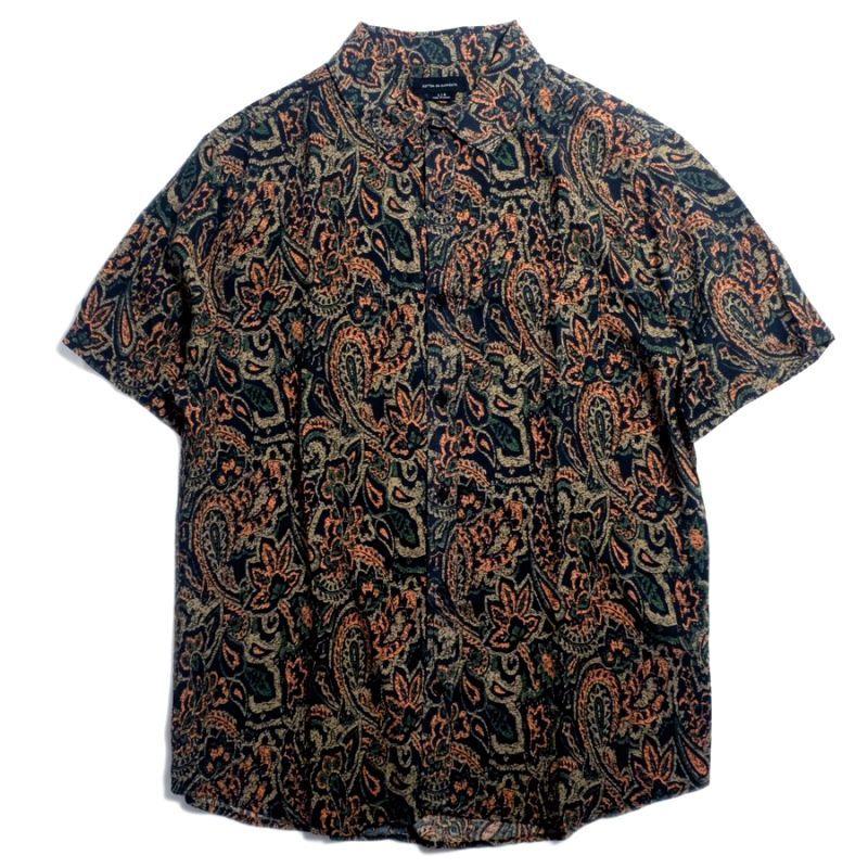 画像1: Cotton On Short Sleeve Paisley Shirts Black / コットンオン ショートスリーブ ペイズリー シャツ (1)