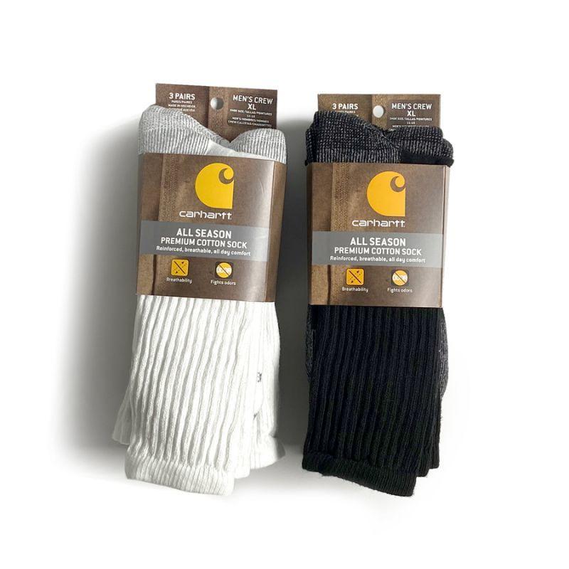 画像1: Carhartt All Season Premium Cotton 3P Socks / カーハート プレミアム コットン 3ペア ソックス (1)
