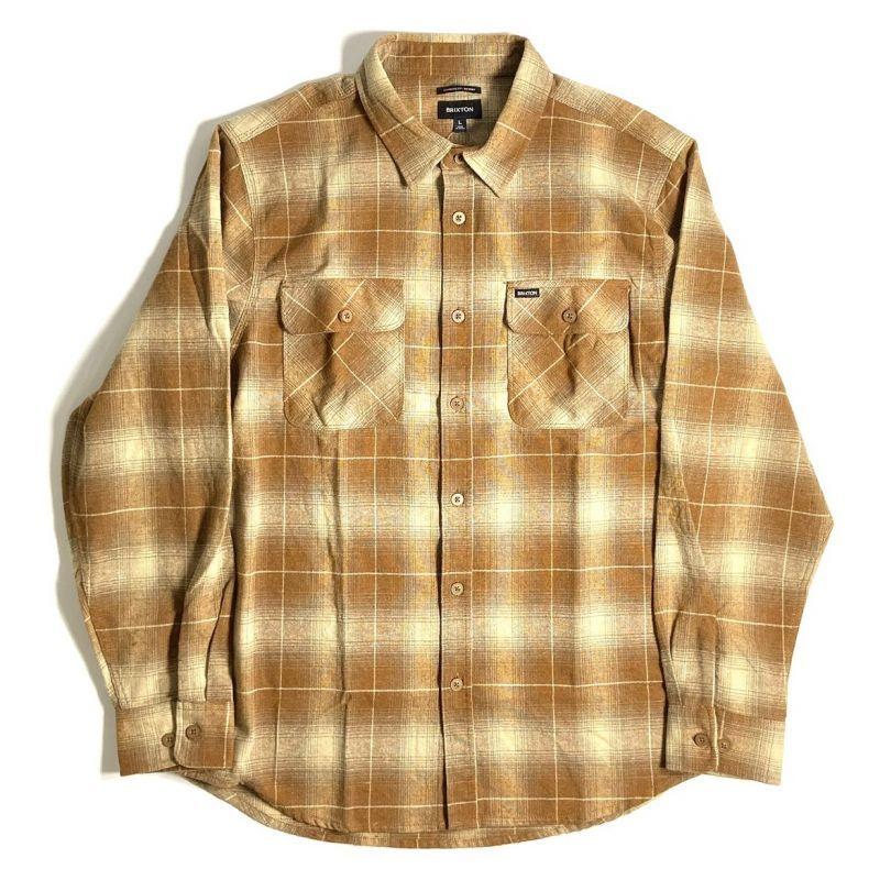 画像1: Brixton Bowery Flannel Long Sleeve Shirts Copper / ブリクストン バワリー フランネル ロングスリーブ シャツ (1)