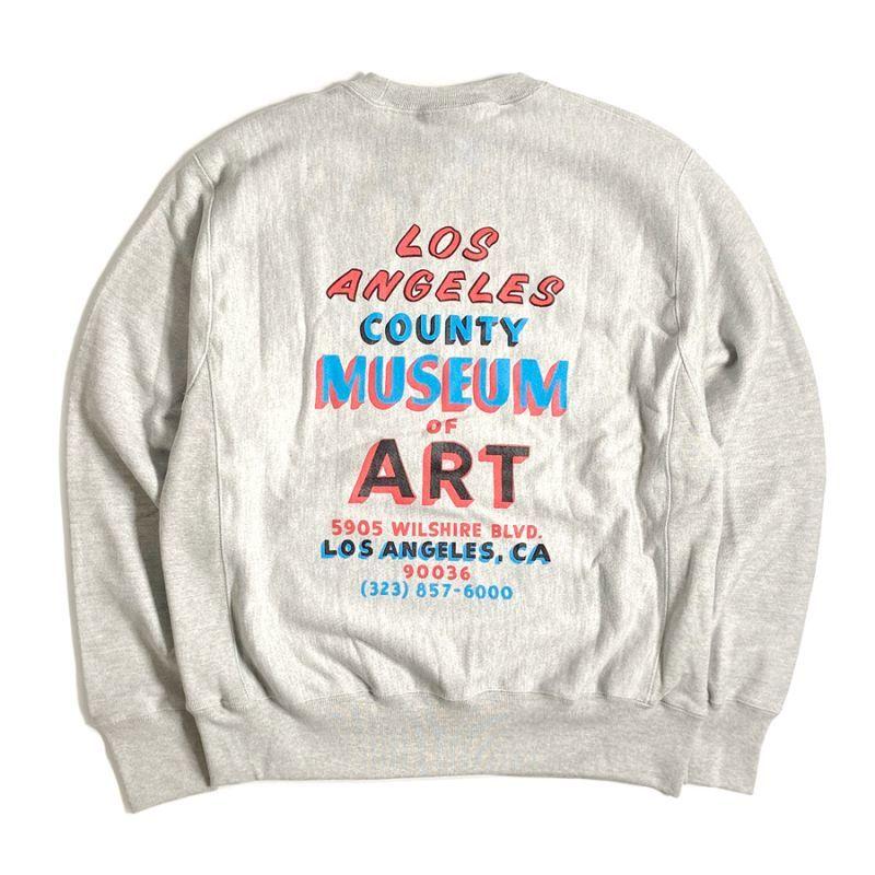 画像1: LACMA Los Angeles County Museum of Art Reverse Weave Crewneck Sweatshirts / ロサンゼルスカウンティー美術館 リバースウィーブ クルーネック スウェットシャツ グレー (1)