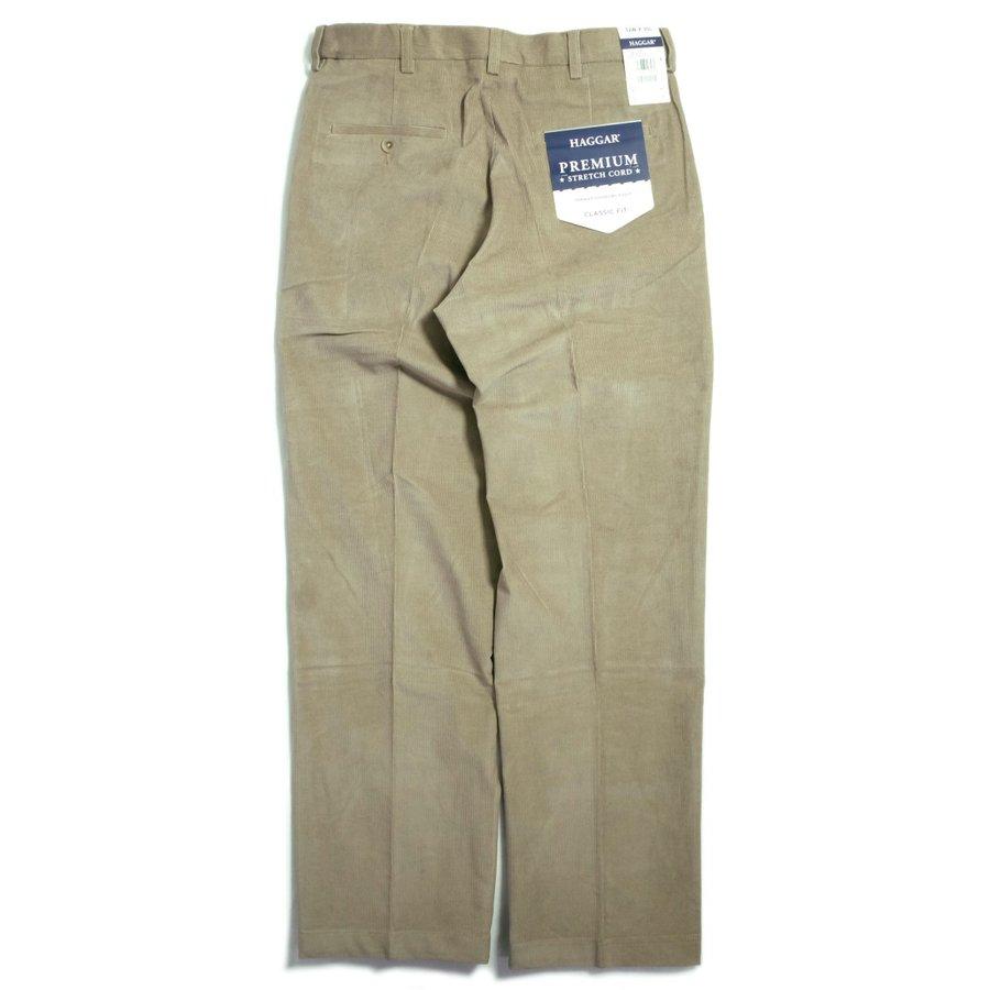 画像1: Haggar Comfort Waist Premium Stretch Corduroy Pants Khaki / ハガー コンフォートウエスト ストレッチ コーデュロイ パンツ カーキ (1)