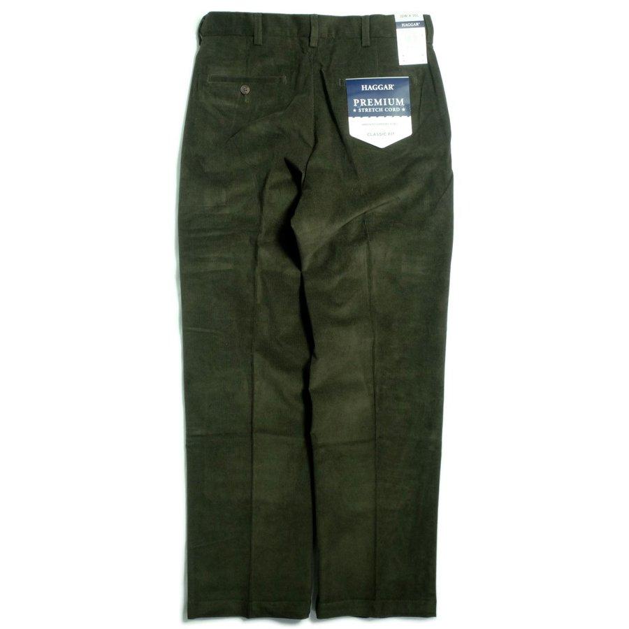 画像1: Haggar Comfort Waist Premium Stretch Corduroy Pants Green / ハガー コンフォートウエスト ストレッチ コーデュロイ パンツ グリーン (1)