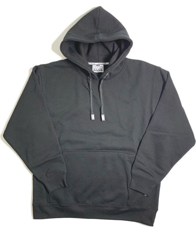 画像1: PRO CLUB Heavyweight Pullover Hooded Sweatshirt Black / プロクラブ へビーウェイト プルオーバー フーディ スウェットシャツ ブラック (1)