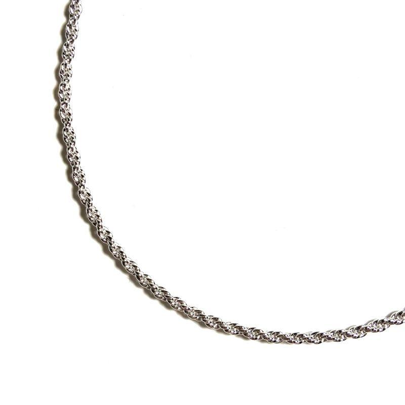 画像1: 925 Sterling Silver 1.5mm Rope Chain Necklace / 925 シルバー 1.5mm ロープ チェーン ネックレス (1)