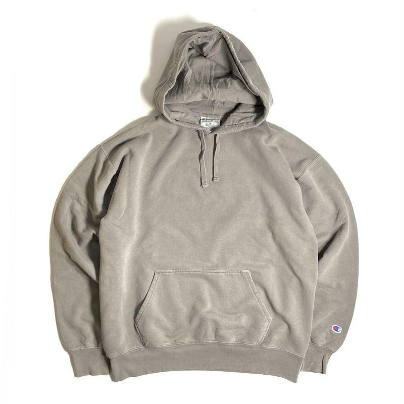 画像1: Champion 10oz Garment Dyed Hooded Sweatshirts Concrete / チャンピオン 10オンス ガーメントダイ スウェット フーディ コンクリート (1)