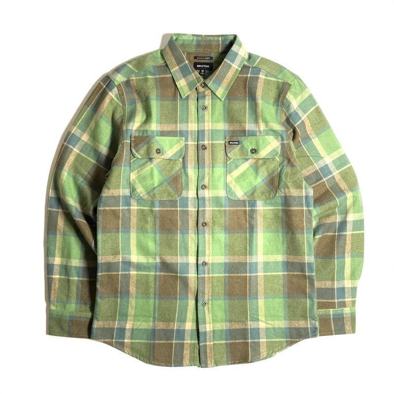 画像1: Brixton Bowery Flannel Long Sleeve Shirts Toffee / ブリクストン バワリー フランネル ロングスリーブ シャツ (1)