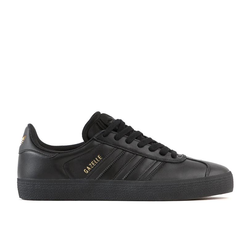 画像1: adidas Skateboarding Gazelle ADV Shoes Core Black / Core Black / Gold Metallic / アディダス スケートボーディング ガゼル  ブラック x ブラック x ゴールドメタリック (1)