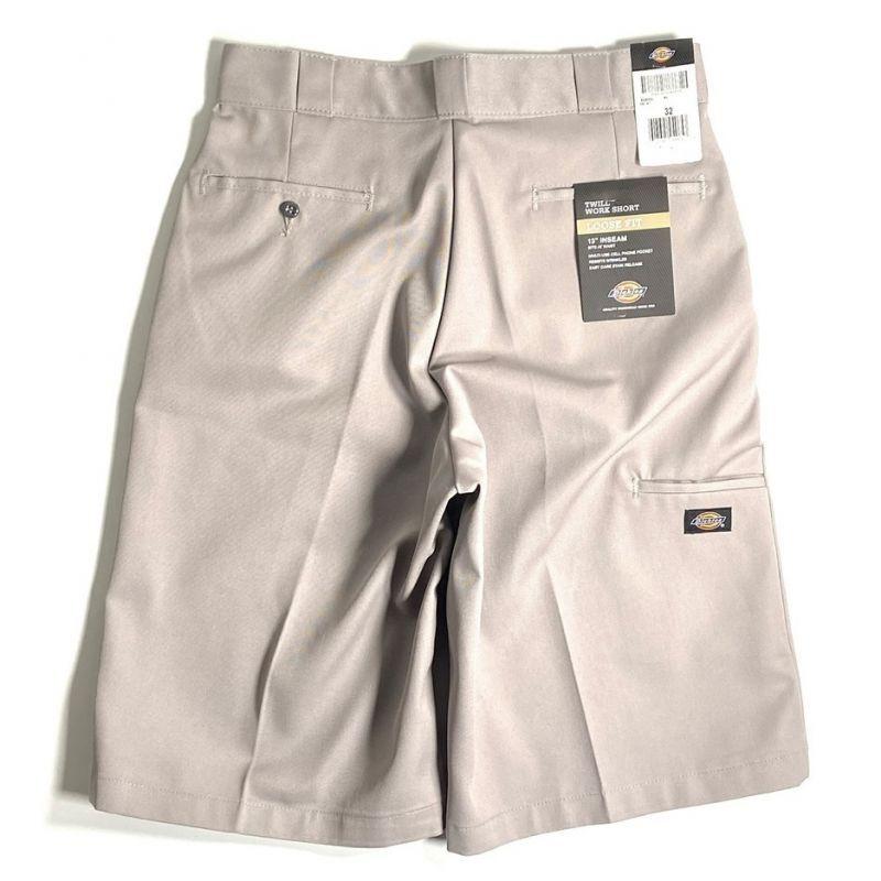 """画像1: Dickies 13"""" Loose Fit Multi-Use Pocket Work Shorts Silver / ディッキーズ 13インチ ルーズフィット マルチユーズ ポケット ワーク ショーツ シルバー (1)"""
