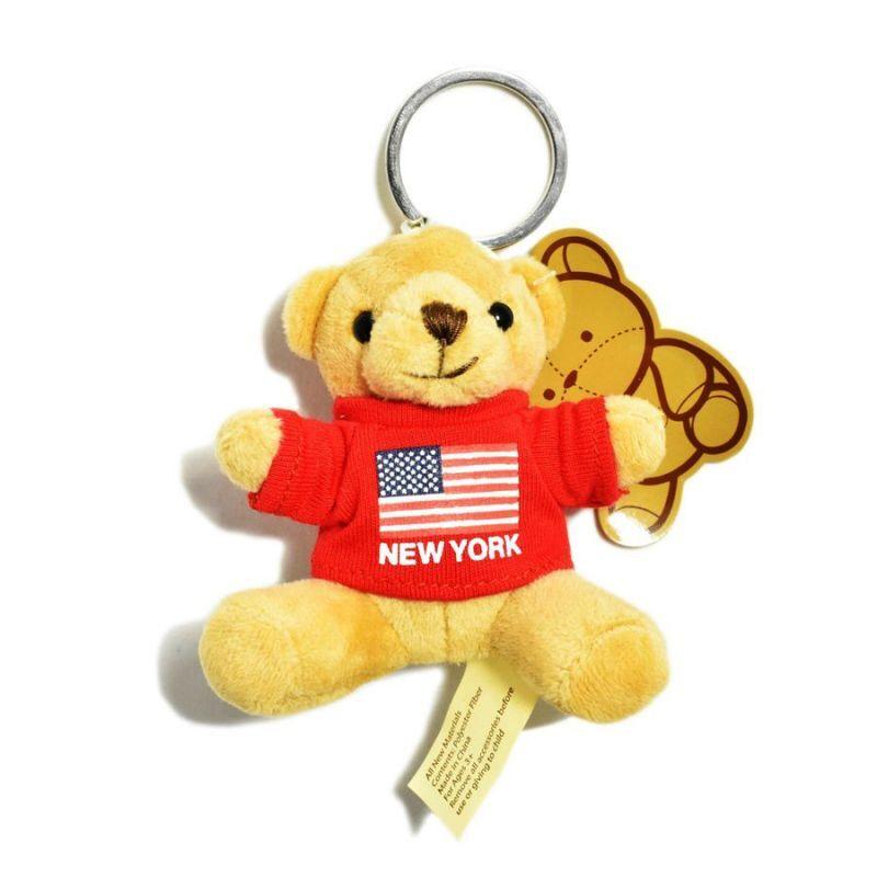 画像1: New York Souvenir Bear Keychain Red / ニューヨーク スーベニア ベア キーチェーン レッド (1)