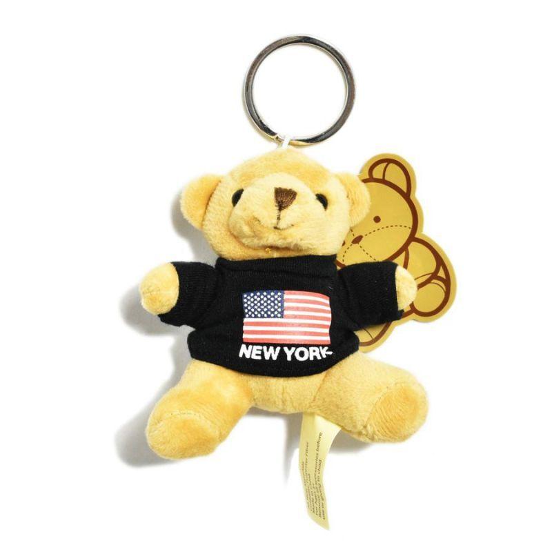 画像1: New York Souvenir Bear Keychain Black / ニューヨーク スーベニア ベア キーチェーン ブラック (1)