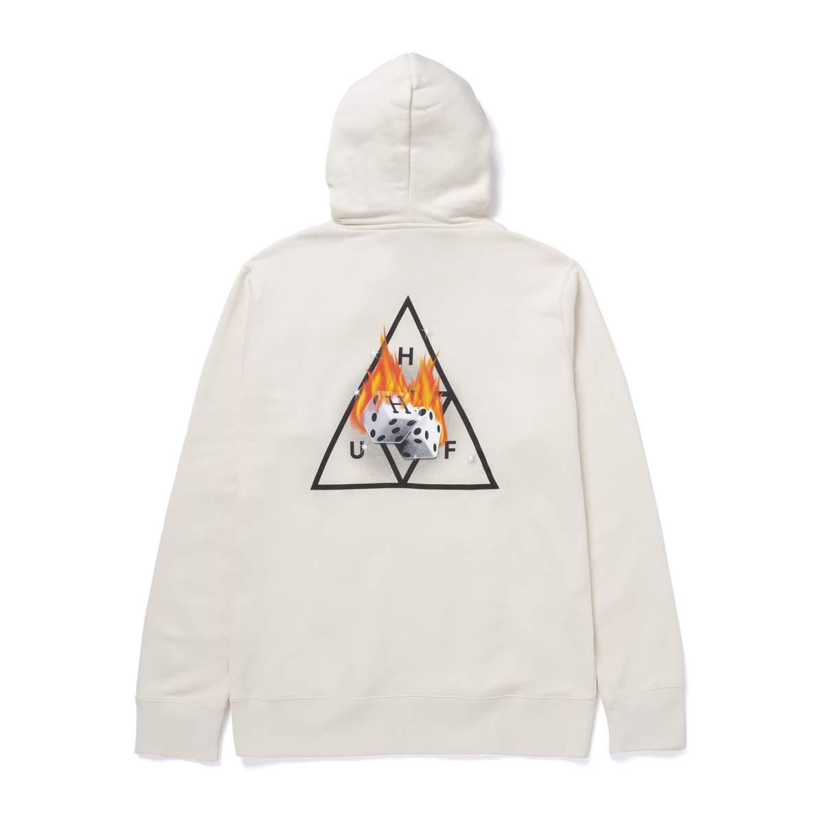 画像1: HUF Hot Dice Triple Triangle Pullover Hoodie Natural / ハフ プルオーバー スウェット フーディ (1)